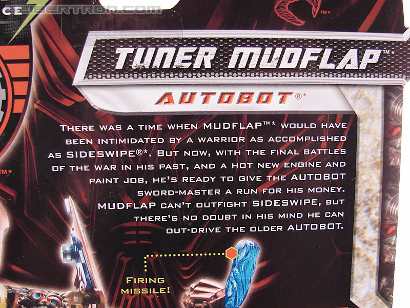 Transformers Revenge of the Fallen Tuner Mudflap (Image #9 of 89)