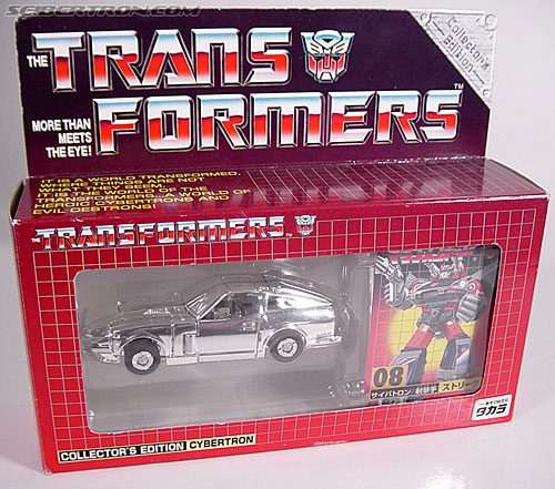 "Transformers e-Hobby Exclusives Silver Bluestreak (""Campaign Car"" version) (Image #1 of 48)"