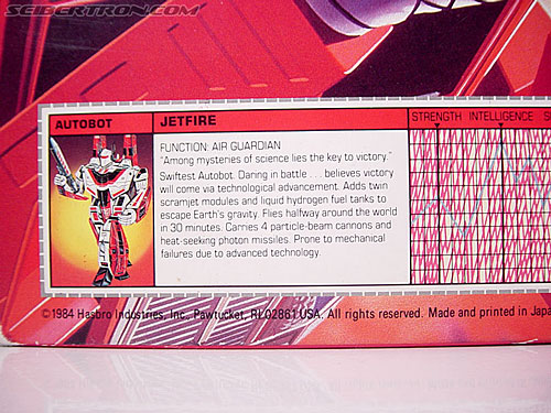 Transformers G1 1985 Jetfire (Skyfire) (Image #11 of 116)