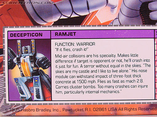 Transformers G1 1985 Ramjet (Image #12 of 168)