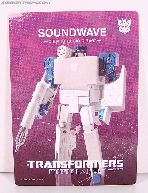 Transformers Music Label Soundwave (Blaster Black) (Image #14 of 88)