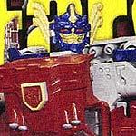 Transformers Armada Optimus Prime merged with trailer