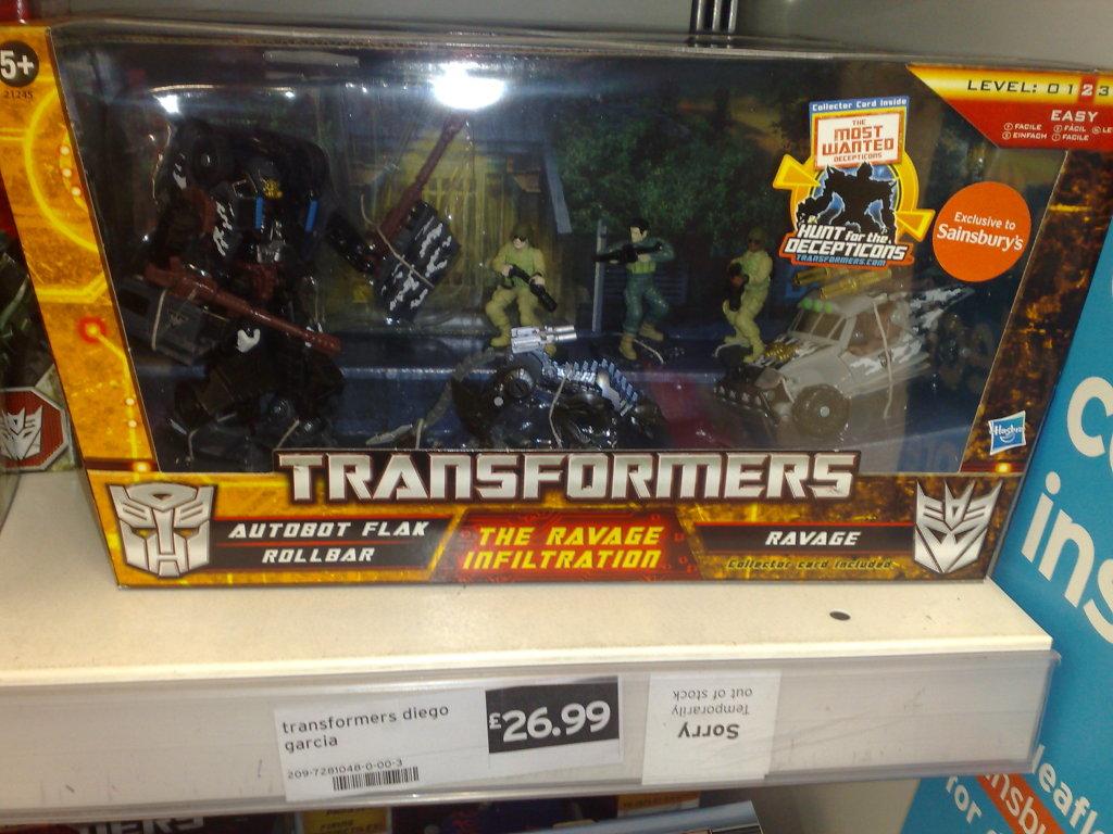 the ravage infiltration released in the uk transformers