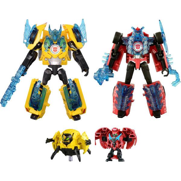 official images takara tomy transformers adventure tav46 overload and tav47 crazybolt. Black Bedroom Furniture Sets. Home Design Ideas