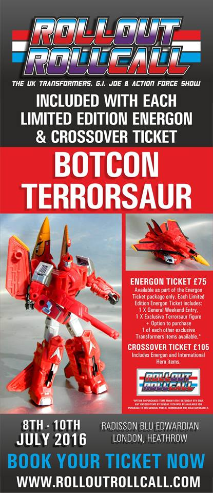 Transformers News: Roll Out Roll Call 2016 - Exclusive BotCon Terrorsaur Announced