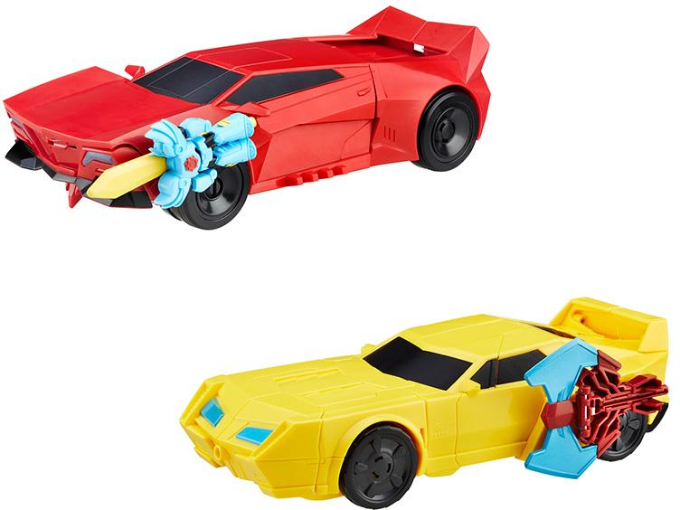 Transformers News: Transformers Robots in Disguise Power Heroes Sideswipe and Bumblebee New Official Images