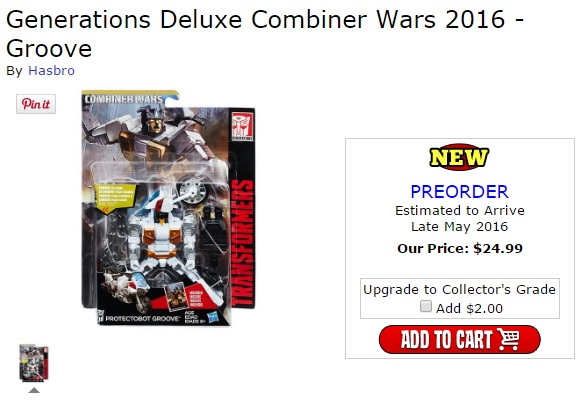 Transformers News: New Pre-Orders - BigBadToyStore.com - Transformers Combiner Wars Deluxe Groove and MP-25L