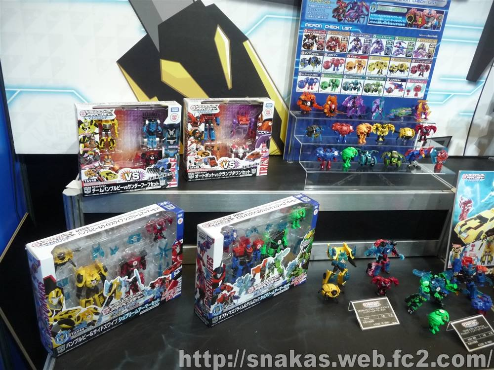Transformers News: Tokyo Toy Show Display: TAV Hyper Surge Optimus Prime, Hyper Surge Bumblebee, and Upcoming Microns
