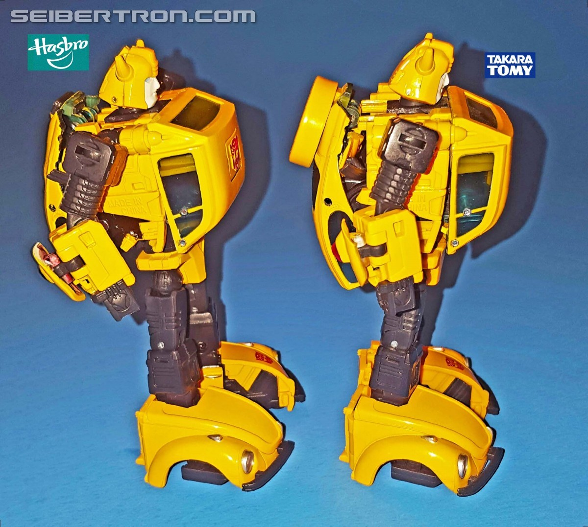 Transformers News: Hasbro Transformers Masterpiece MP-08 Bumblebee In Hand Comparison With MP-21
