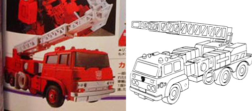 Transformers News: Takara Tomy Transformers Masterpiece Inferno Figure King Magazine Scans with Ladder Trick