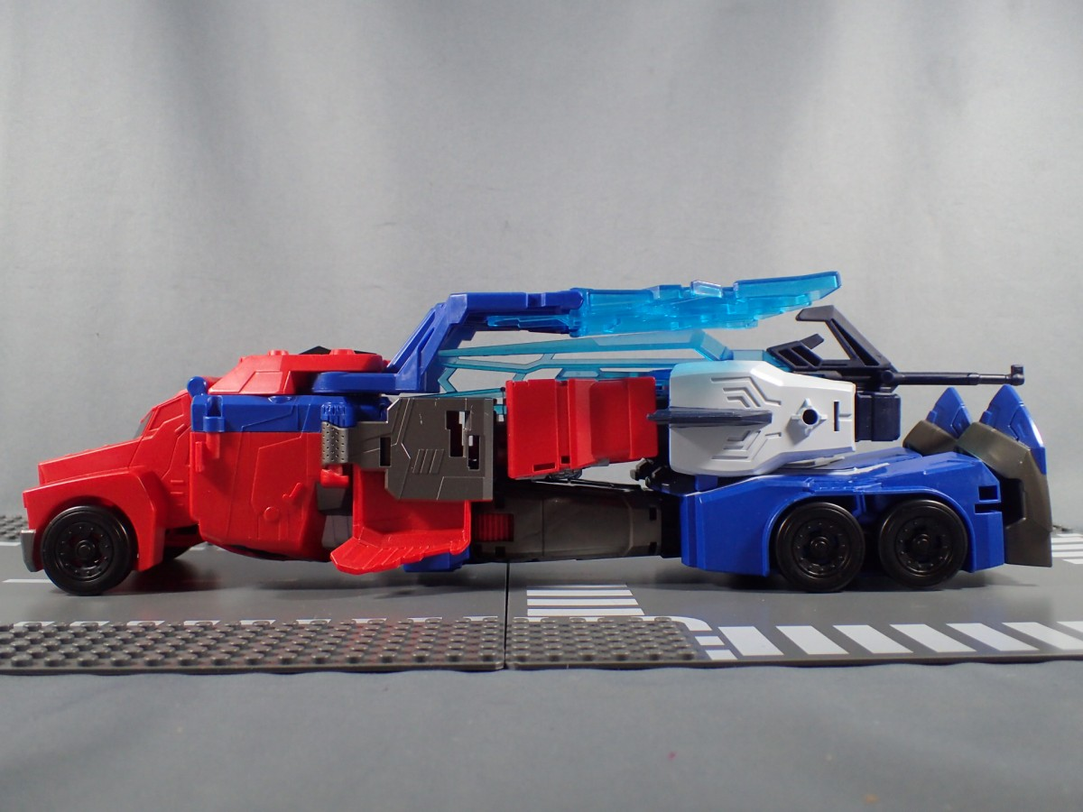 Transformers News: Quick Written Review of Takara Tomy Transformers Adventure TAV 50 Hyper Surge Optimus Prime