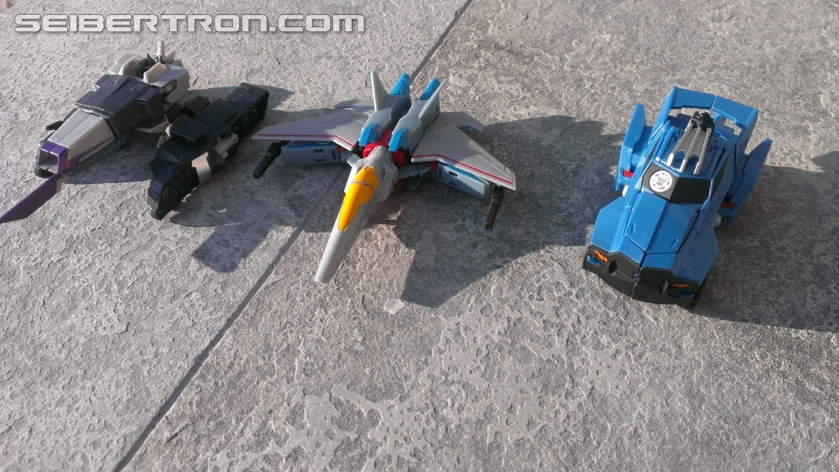 Transformers News: A Ton of New Images of the New Robots in Disguise Exclusive Starscream Warrior Figure with Review