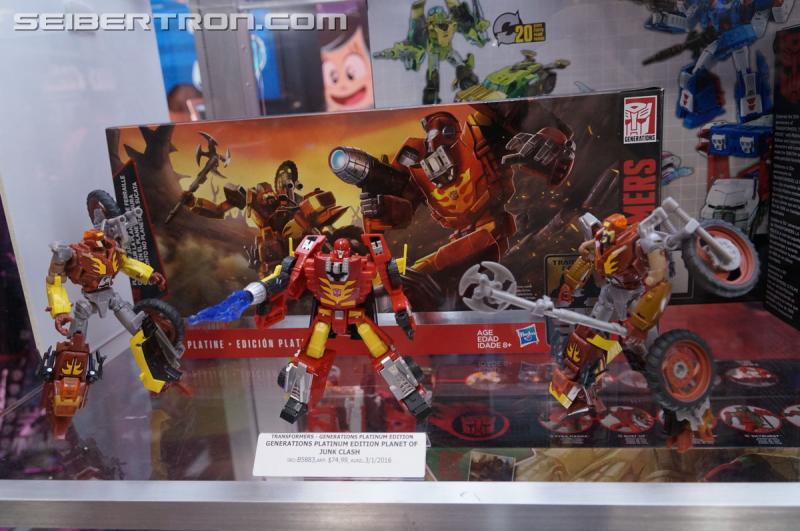 Transformers News: 2016 Generations Platinum Edition Display: Prime vs Megatron, Autobot Heroes, Planet of Junk