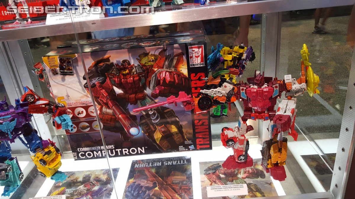 Transformers News: 2016 Generations Combiner Wars Display: Computron, G2 Bruticus, and Victorion #SDCC