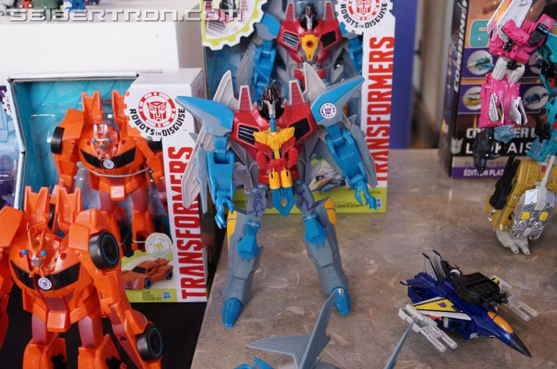 Transformers News: Hasbro Press Event: Transformers Robots in Disguise 5-Step Starscream, 3-Step Bisk, and More!! #SDCC