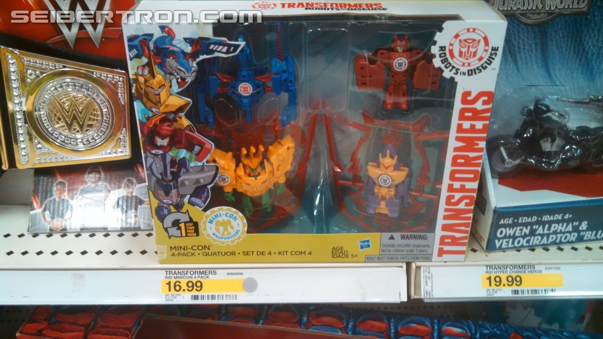 Transformers News: Transformers Robots in Disguise Minicons Weapon 4 pack Found at US Retail