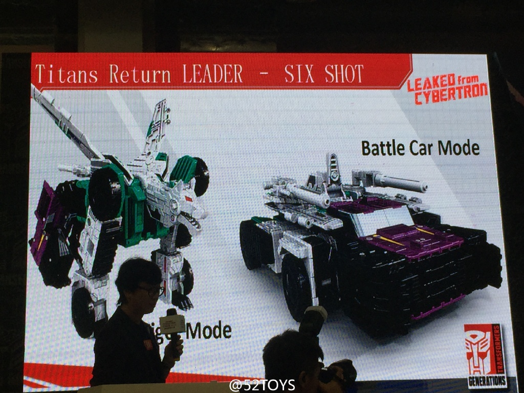 Transformers News: Transformers Titans Return Leader Class Sixshot Revealed