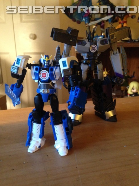 Transformers News: In-Hand Images - Takara Tomy Transformers Adventure TAV52 Strongarm with Sawtooth