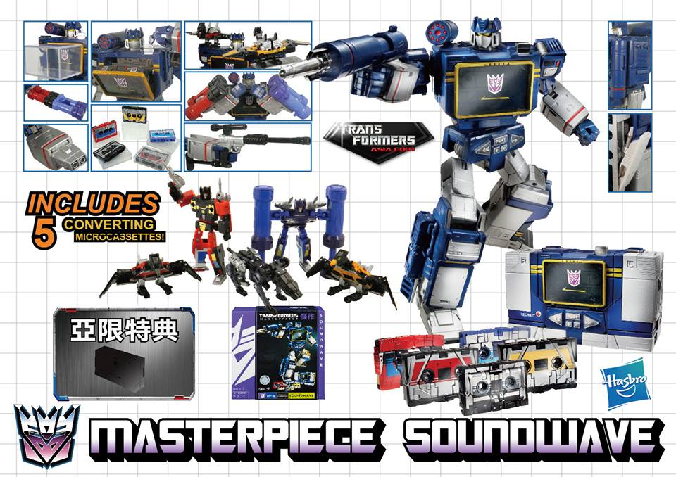 Transformers News: Hasbro Asia to Reissue Masterpiece Soundwave in December 2016