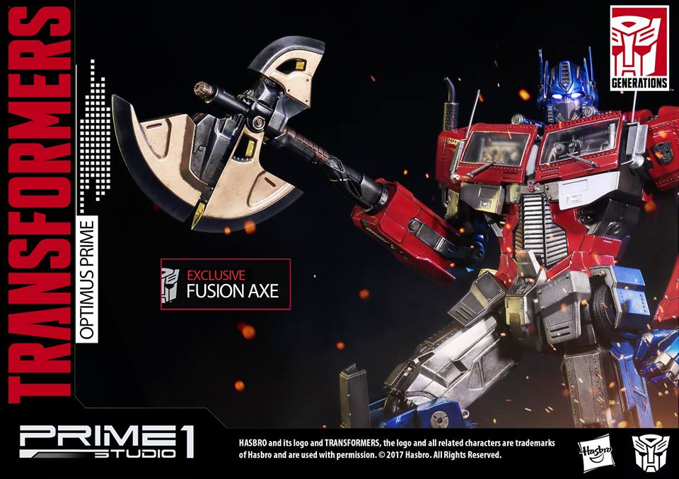 Transformers News: Prime 1 Studios PMTF-01 Optimus Prime New Exclusive Axe Images