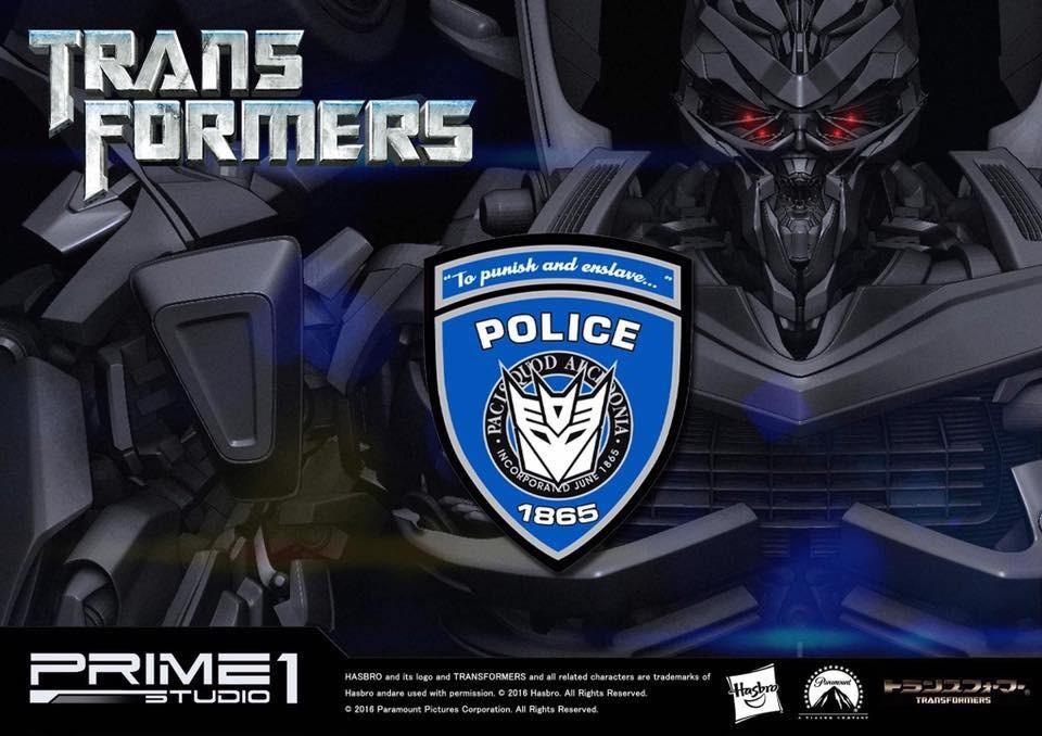 Transformers News: Prime 1 Studio Barricade Teaser Revealed