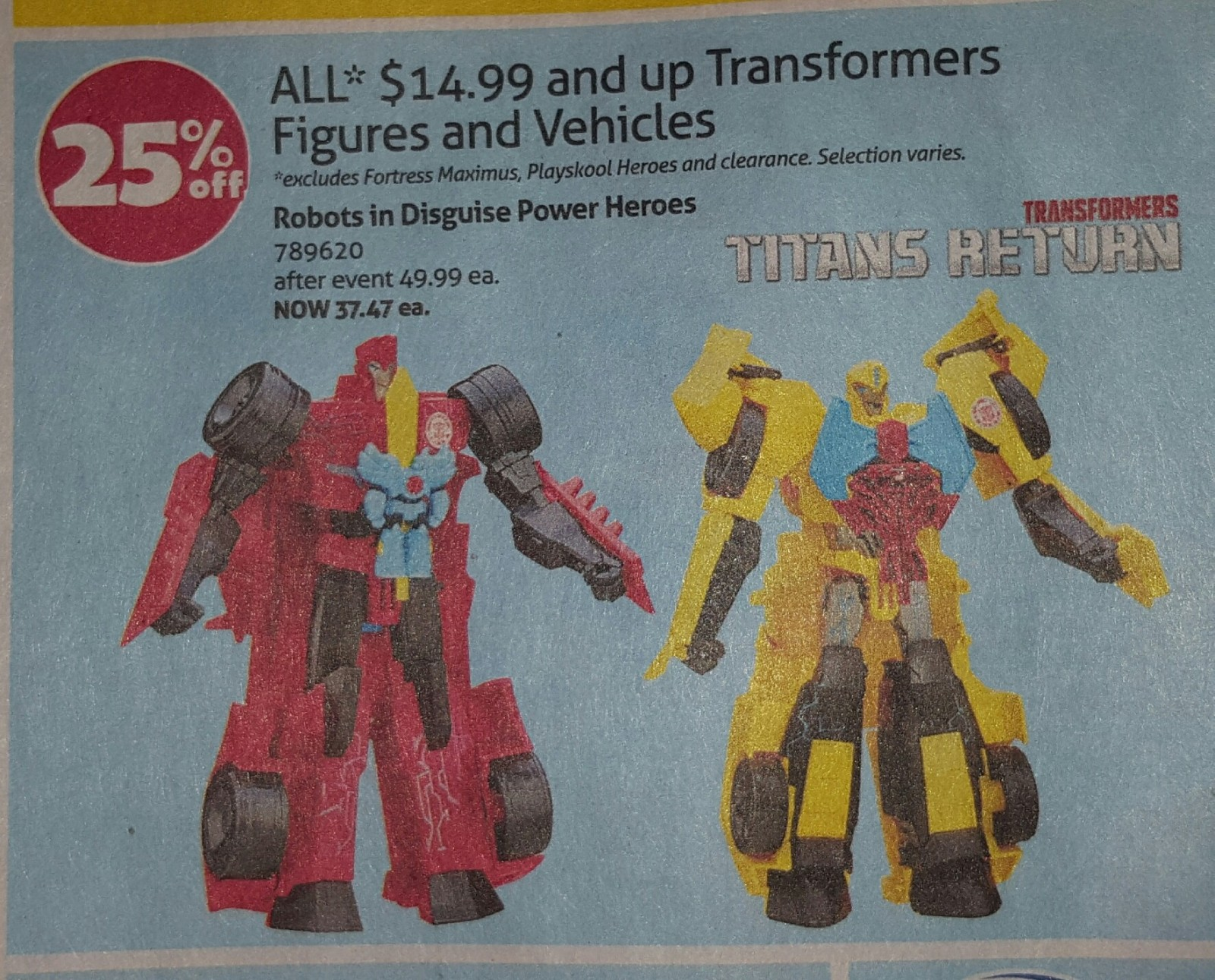 Transformers News: 25% Discount on most Transformers at Toysrus Canada