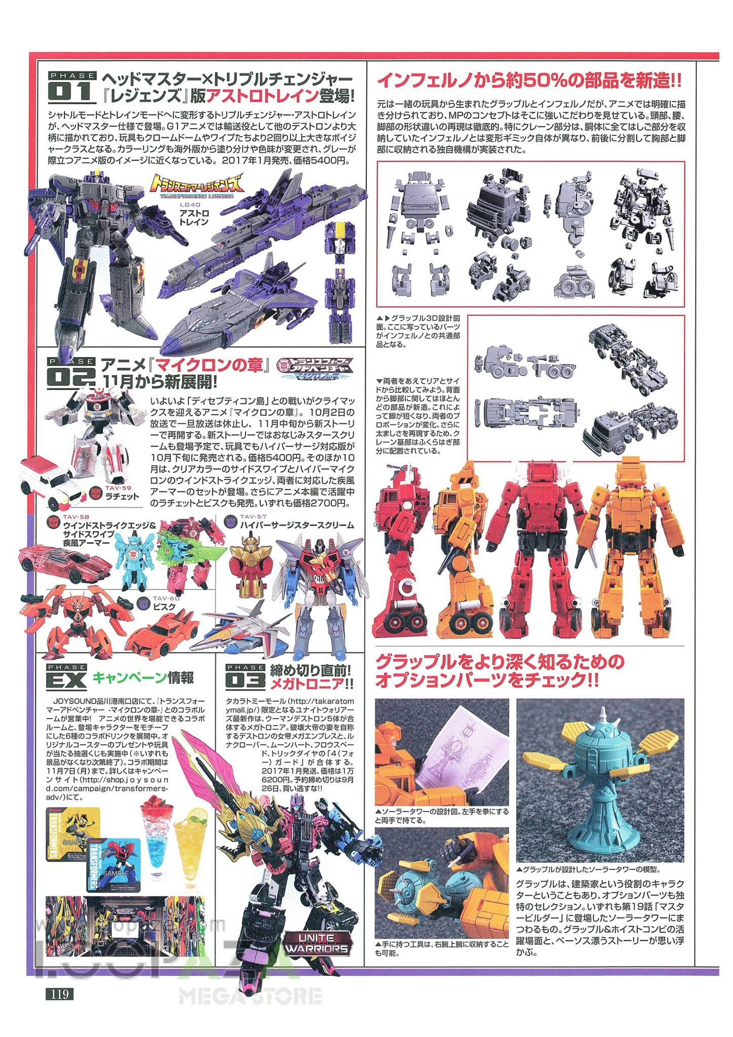 Transformers News: New Images of Transformers Masterpiece MP-35 Grapple With Size Comparison and Part Sharing Breakdown