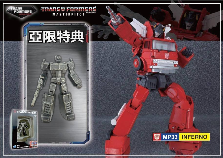 Transformers News: Die Cast Optimus Prime Figure for  Transformers Masterpiece Inferno Revealed
