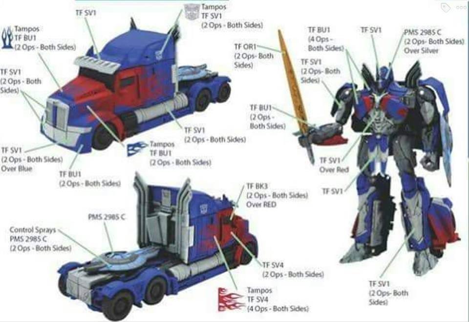 Transformers News: Possible Transformers: The Last Knight Optimus Prime Toy Design Sheet