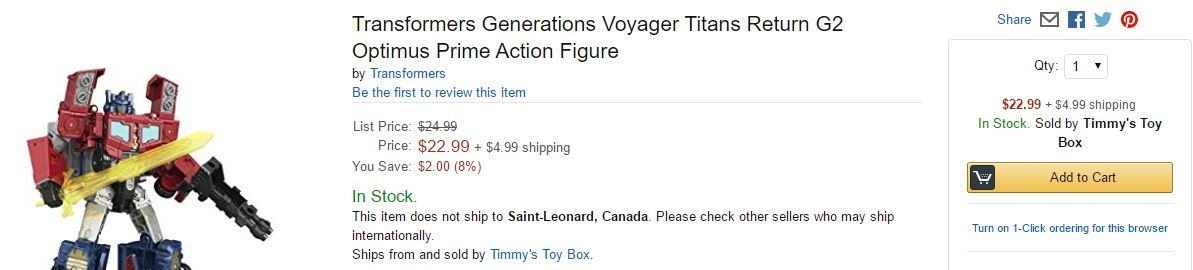 Transformers News: Titans Return Wave 3 Voyagers and Legends Currently In Stock Online