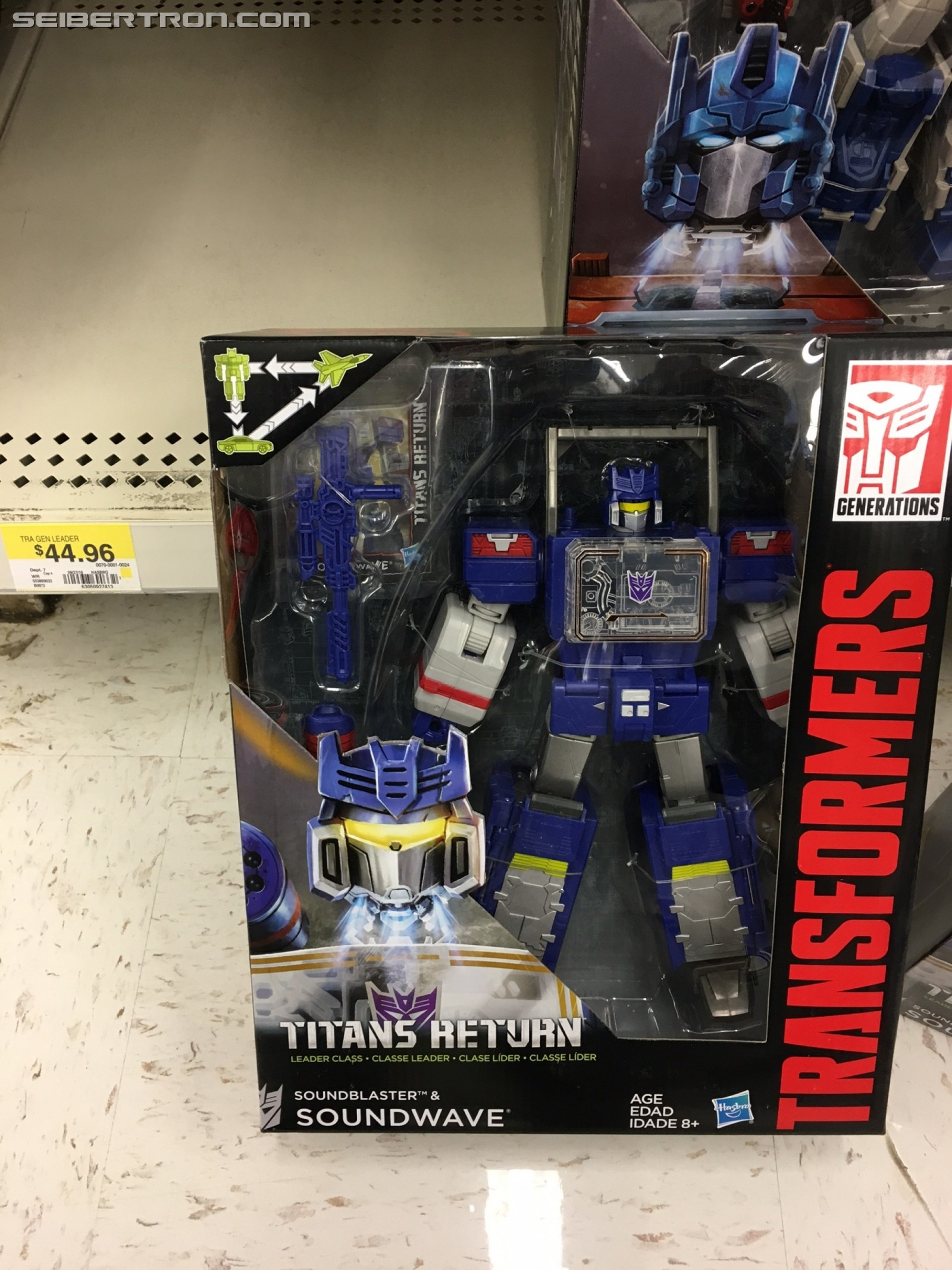 Transformers News: Transformers Titans Return Soundwave Sighted at US Retail