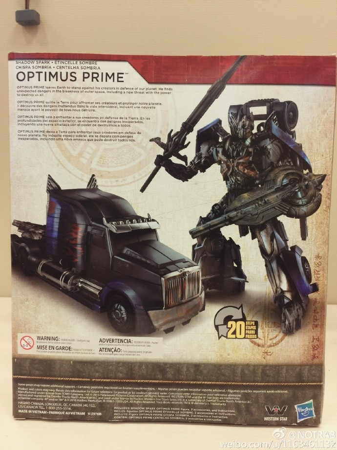 Transformers News: In-Hand Images of Transformers: The Last Knight Shadow Spark Optimus Prime