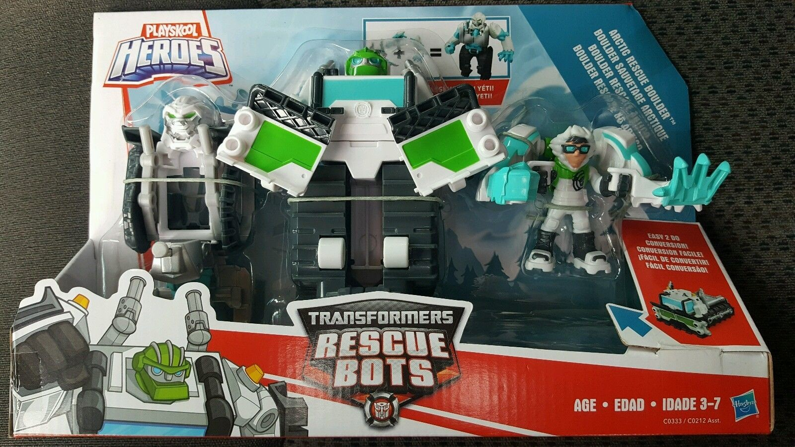 Transformers News: Images for Transformers: Rescue Bots Arctic Rescue Boulder, Bumblebee Rock Rescue Team
