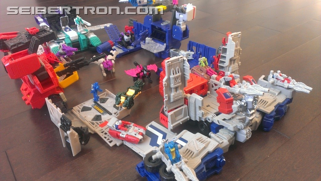 Transformers News: Images of Titans Return Sixshot Showing Flying Wolf Mode and Connection to Other Bases