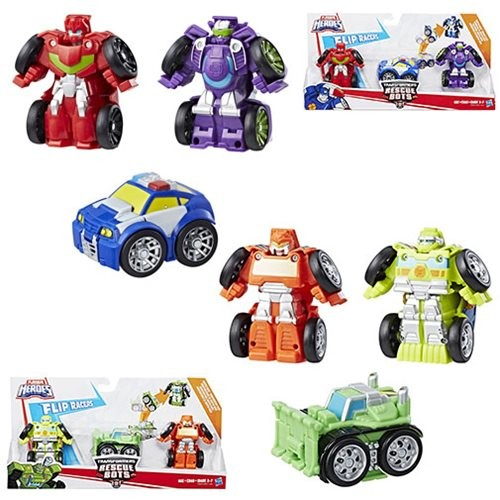 Transformers News: New Transformers: Rescue Bots Flip Changers, Launchers and Epic Figures Listings