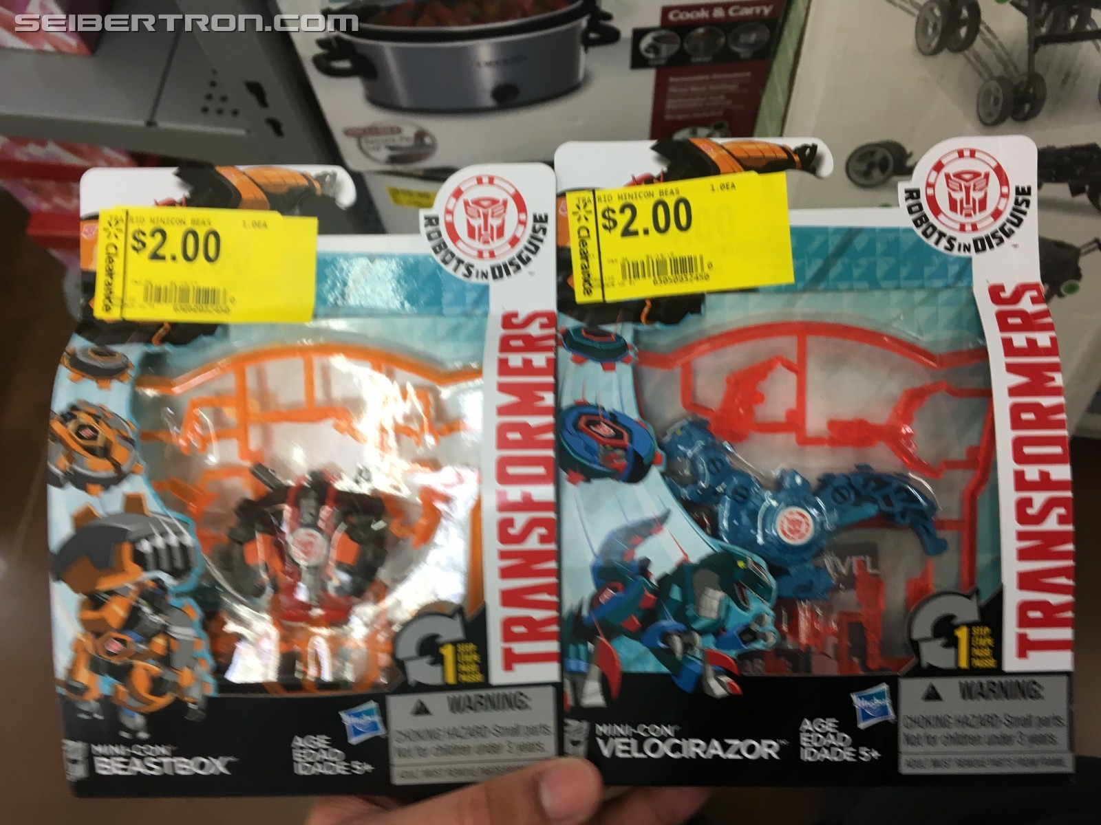 Transformers News: Robots in Disguise Minicons On Sale at Walmart, 5 Below; Combiner Force 3-Steps Found at Retail