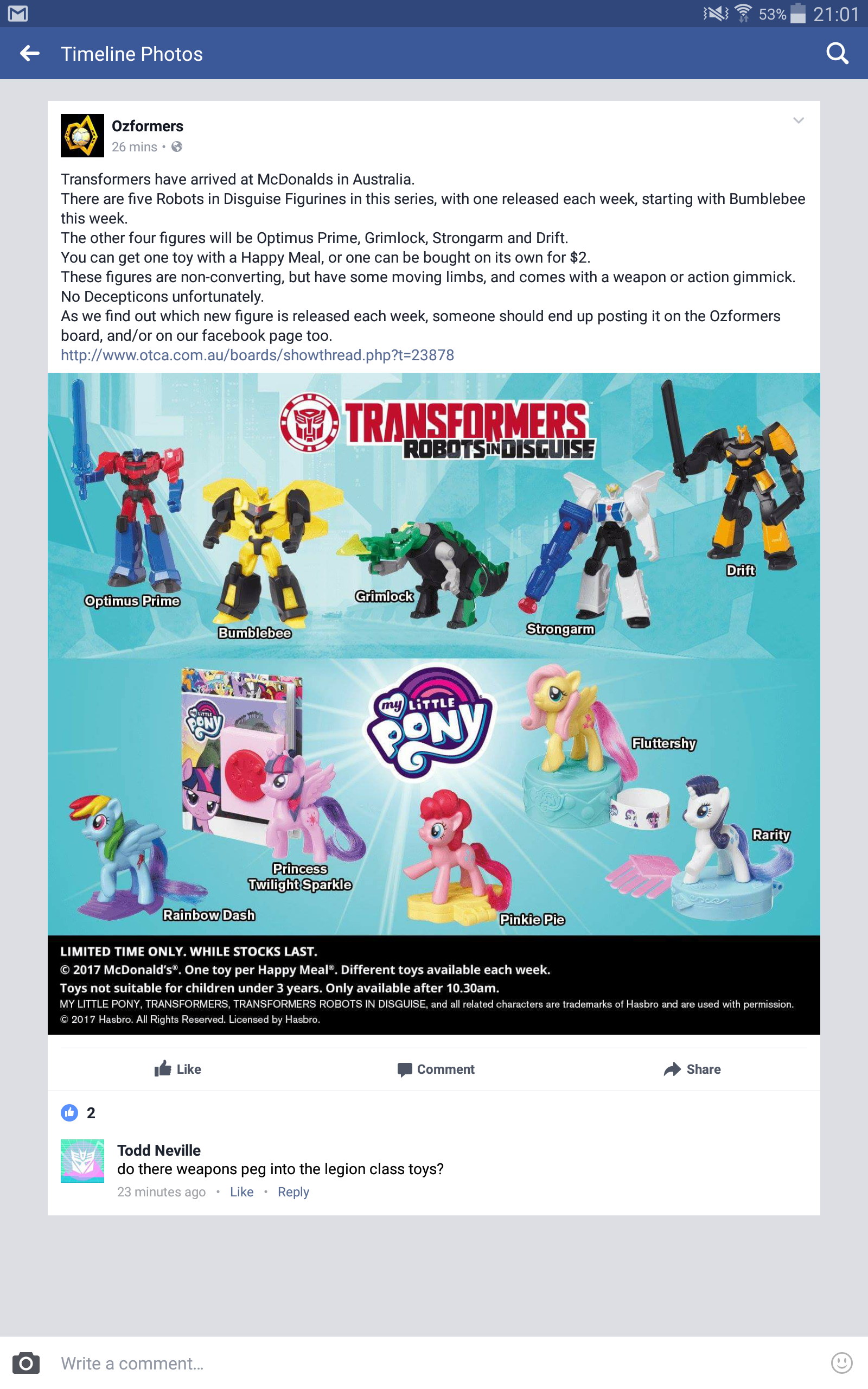 Transformers News: New Robots in Disguise McDonalds Toys Now Available in Australia