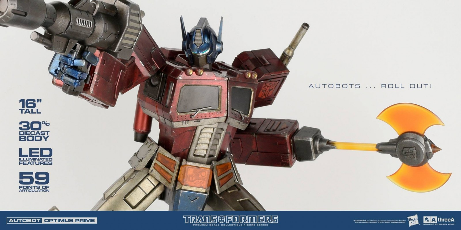 Transformers News: New Images of Hasbro 3A Transformers Generation 1 Optimus Prime Statue