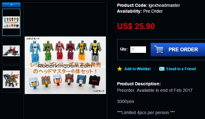 Transformers News: Takara Legends Titan Masters Set Available for Preorder Online