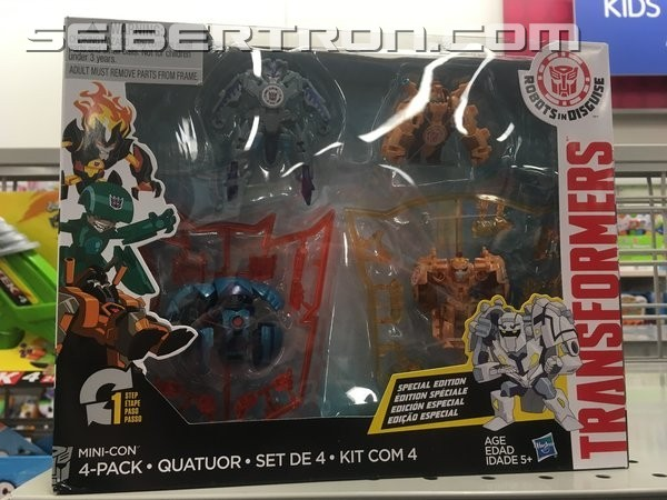 Transformers News: Robots in Disguise Minicon 4 Packs Found at Burlington