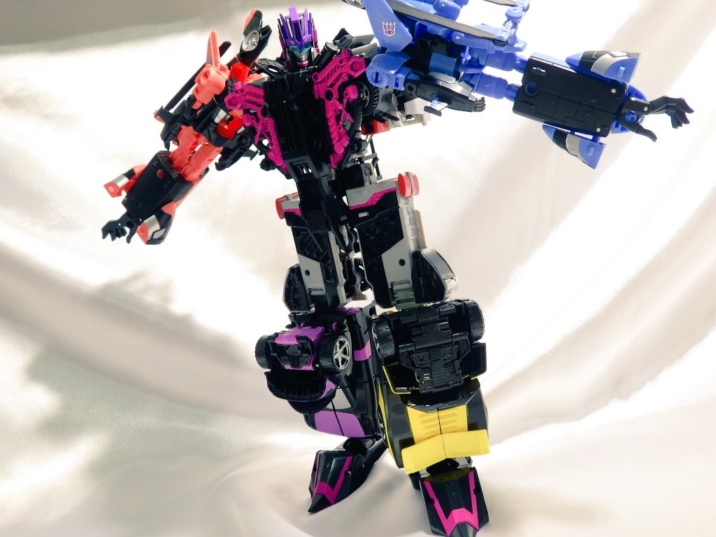 Transformers News: More In Hand Images of Takara Unite Warriors Megatronia with Closeups, Box and Chest Options