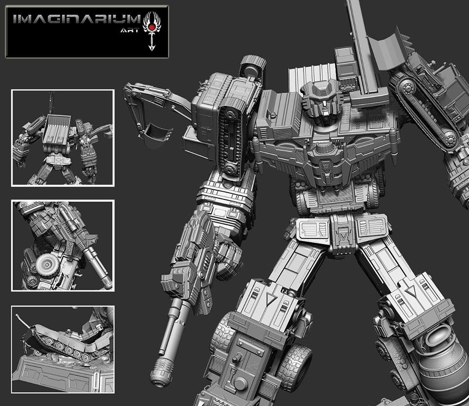 Transformers News: Imaginarium Art Licensed Transformers Devastator Renders