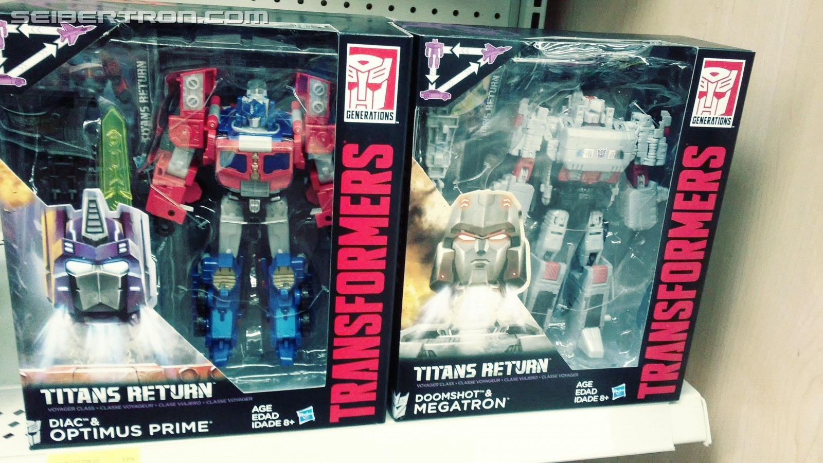 Transformers News: Titans Return Wave 3 Voyagers Optimus Prime and Megatron Found at US Retail