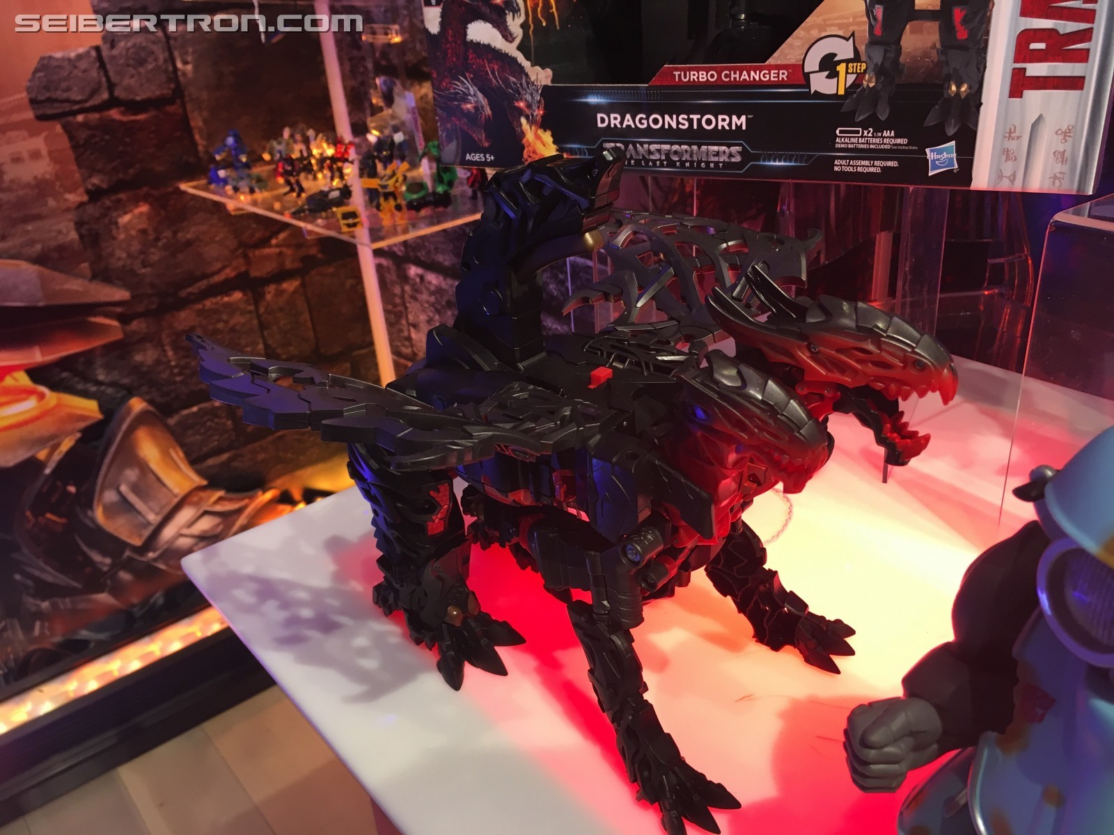 Transformers News: Toy Fair 2017 - Showroom Images of Transformers: The Last Knight Turbo Changer Dragonstorm