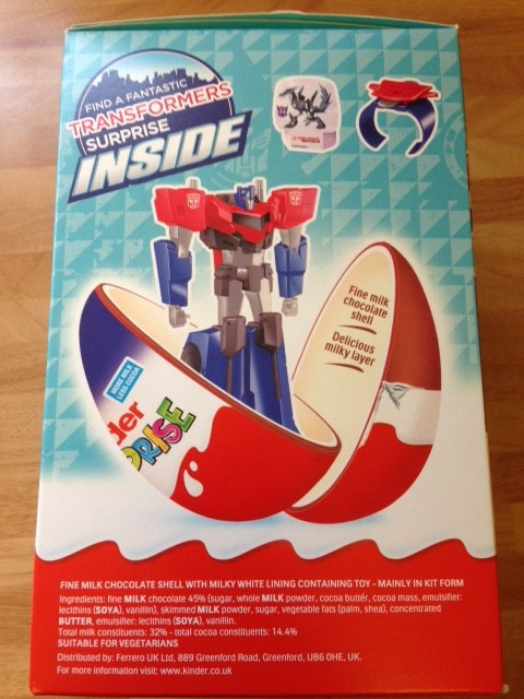 Transformers News: New 2017 Giant Kinder Surprise Egg Featuring Transformers Robots in Disguise