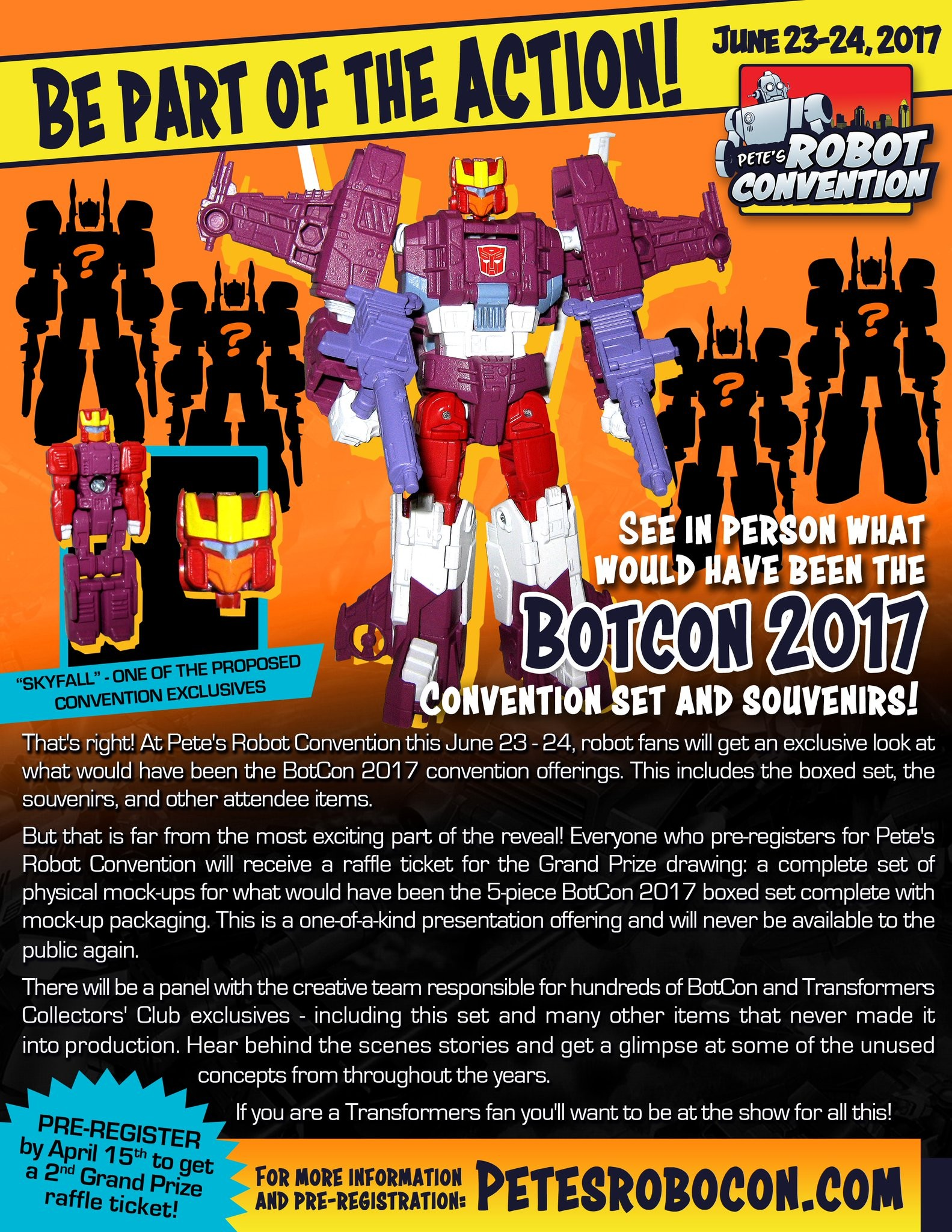 Transformers News: Reveal and Competition of Proposed Botcon 2017 exclusive Skyfall and four other figures