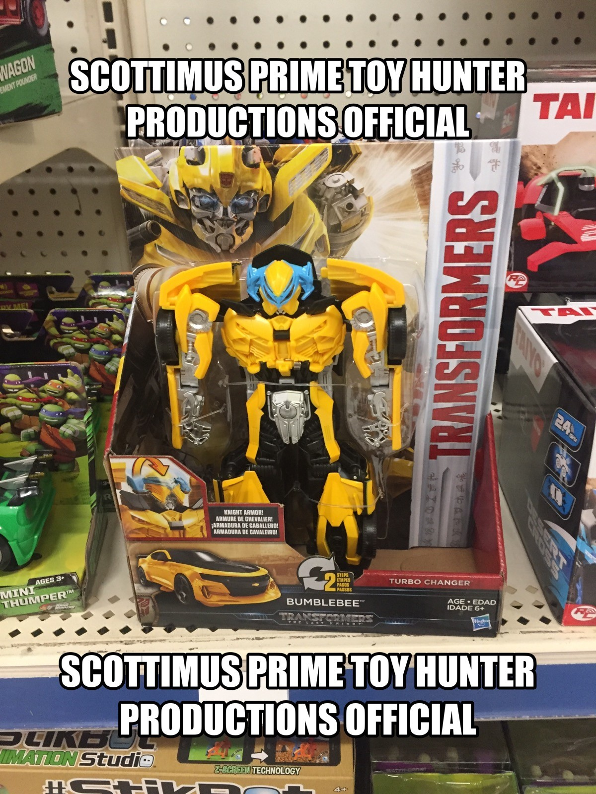 Transformers News: Transformers: The Last Knight Turbo Changer Bumblebee And Optimus Prime Sighted at US Retail