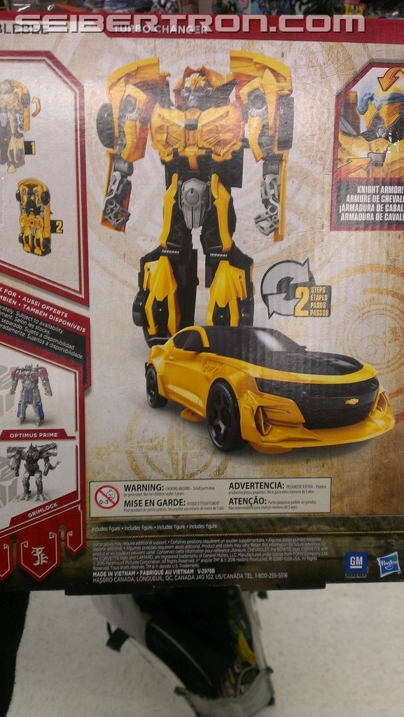 Transformers News: In Hand Images of Knight Armor Turbo Bumblebee, Optimus and Grimlock Transformers: The Last Knight