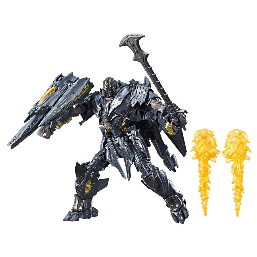 Transformers News: Stock Images of Transformers: The Last Knight Leader class Optimus Prime and Megatron