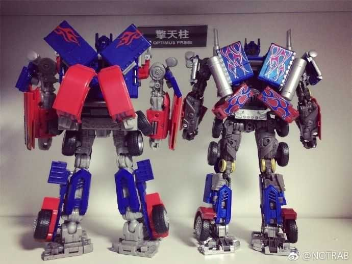 Comparison Images Between Mpm 04 Optimus Prime And Rotf
